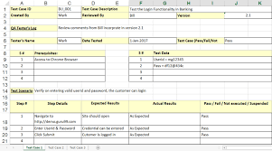 Excel Test Plan Template Sle Test Template With Explanation Of Important Fields