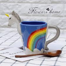 fancy coffee cups hand painted 3d unicorn mugs cute cartoon ceramic coffee cups