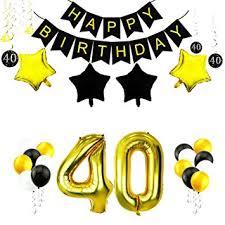 40th Bday Decorations Amazon Com Goer 63 Pcs 40th Birthday Decorations Set 42 Inch Gold