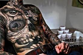 skull manly stomach tattoos for in black ink tattoos win