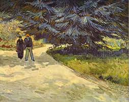 the paintings pile up under the bed paris provence van gogh couple in the park arles