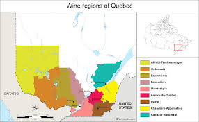 Maps Canada by Canada Map Of Vineyards Wine Regions