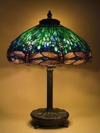 stained glass l bases purple tulips leadlight antique large table lamp deco tiffany