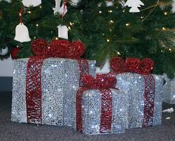 lighted christmas present boxes led lighted christmas gift box silver set of 3 6 8 10