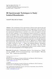 gas phase ir spectroscopy and structure of biological molecules