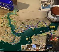 Istanbul Map Istanbul Tourist Map By Taha Alkan 3d Cgsociety