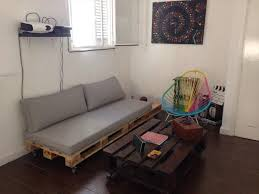 Pallet Sofa Cushions by Pallet Couch Build An Easy Daybed Sofa Diy And Crafts
