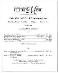 Best Resume Format Network Engineer by College Of Music Program Book 2011 2012 Student Performances