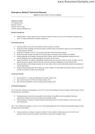 sample emt resume download emt resume examples
