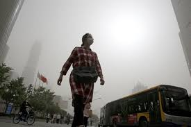 dusty china sandstorm blankets area of china in dusty pollution seattle wa