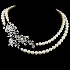 pearls swarovski necklace images Statement wedding necklace swarovski crystal pearl bridal jpg