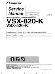 pioneer vsx 520 k service manual soldering solder
