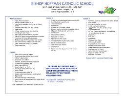 catholic supplies bishop hoffman supply list