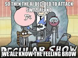 Funny Regular Show Memes - we all know that feel bro regular show memes quickmeme