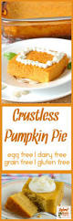 crustless pumpkin pie egg free dairy free grain free gluten