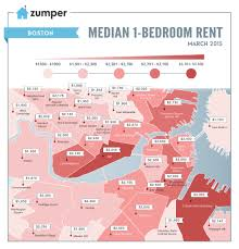 Average 1 Bedroom Rent Us See How Much Boston Spent On Rent This March The Zumper Blog