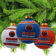 new york knicks official nba 3 glass ornament 3