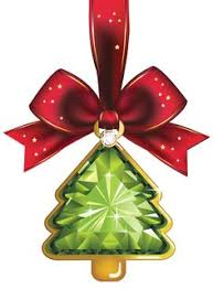 green decoration with golden bells png clipart