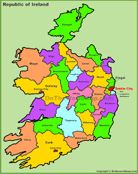 counties map counties map of ireland