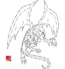 blue eyes white dragon attack line art by lionheart214 on deviantart