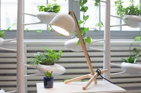 grow your own lamp out of mushrooms and hemp the verge 85 table lamp kit ecovative ecovative s grow your own