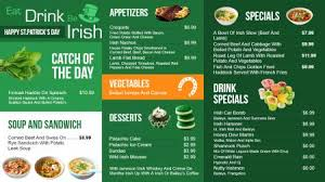 restaurant digital signage menu board design from dsmenu