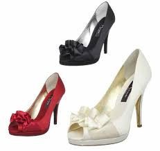 wedding shoes high peep toe high heel wedding shoes with front bow 2018