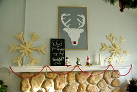 Whimsical Christmas Decorations Ideas Rustic And Whimsical Christmas Fireplace Mantel U2022 Our House Now A Home