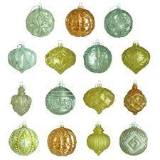 home accents holiday 130 mm ornament set in blue silver 9 count