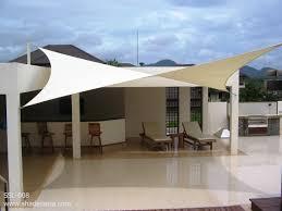 sleek and modern fabric shade sails magical garden