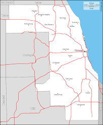 Chicago County Map With Cities by Cook County Free Map Free Blank Map Free Outline Map Free Base