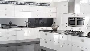 Modern Kitchens With White Cabinets Modern Kitchen White Cabinets Reflections High Gloss Other 640x362