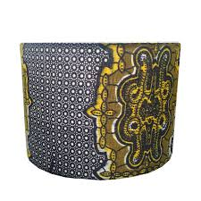 detola and geek new lampshade design blue u0026 yellow tribal