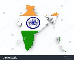 India On Map by India Flag On Map Stock Illustration 125545691 Shutterstock