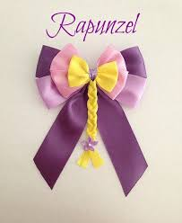 in hair bow disney inspired tangled rapunzel princess hair bow by