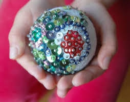 sequin ornament giddygiddy
