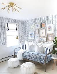 Blue And White Decorating One Room Challenge Bonus U0026 Craft Room Reveal Driven By Decor