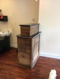 Small Receptionist Desk Handmade Small Barn Wood Salon Reception Desk By M Karl Llc