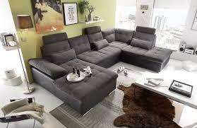 canapé en u canapé en u convertible jakarta noir lawa sb meubles discount