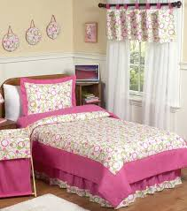 Pink And Green Kids Room by Circles Pink And Lime Green Bedding Set By Sweet Jojo Designs