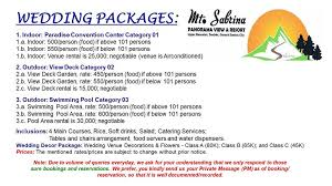 wedding packages prices great wedding packages your mt sabrina hotel and