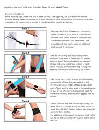 simple kinesiology tape instructions for wrist kinesiology tape