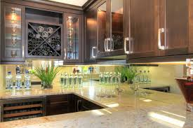 mirror tile backsplash kitchen fabulous u shape kitchen decor with white marble countertop also