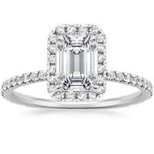 Platinum Diamond Wedding Rings by Emerald Cut Engagement Rings Brilliant Earth