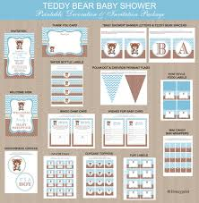 teddy bear baby shower invitations teddy bear baby shower printables package printable teddy