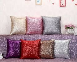 Lawn Chair Cushion Covers 40x40cm Glitter Sequins Cushion Cover Sofa Pillow Case Home Decor