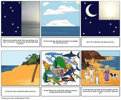 what day did god create light the creation of the world storyboard by 14safiyata