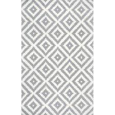 mercury row obadiah hand woven wool gray area rug u0026 reviews wayfair