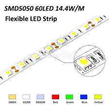 16 4ft ws2812b individually addressable 5050 rgb led strip light