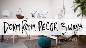 Dorm Room Decor Ultimate Dorm Room Design 3 Ways Youtube
